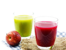 Mixed fruit juice smootie from fruits and vegetables for healthy Stock Photography
