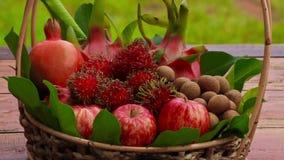 Mixed Fruit. Many fresh fruits mixed, fruits background stock footage