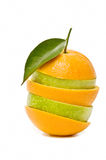 Mixed fruit orange-shaped Stock Photography