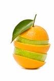 Mixed fruit orange-shaped Stock Photography