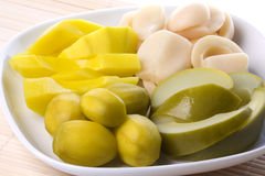 Mixed Fruit Pickles Isolated Stock Photos