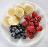 Mixed Fruit Plate Royalty Free Stock Images