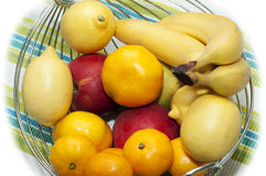 Mixed fruit pot. Pot filled with mixed fruits Royalty Free Stock Images