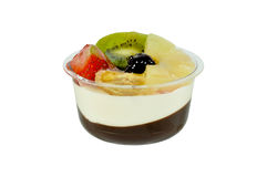 Mixed fruit pudding Stock Images