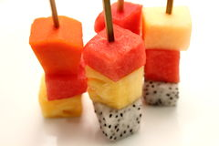 Mixed Fruit skewers Stock Image