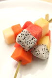 Mixed Fruit skewers Royalty Free Stock Photos