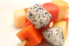 Mixed Fruit skewers Royalty Free Stock Images