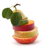 Mixed fruit slices Stock Images