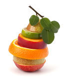 Mixed fruit slices Royalty Free Stock Photography