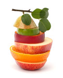 Mixed fruit slices Stock Photography