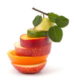 Mixed fruit slices Stock Image
