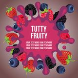 Mixed fruit splash. Additional file in eps 10 Royalty Free Stock Image