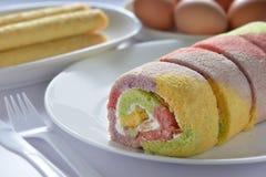 Mixed Fruit Sponge Cake Stock Photography