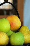 Mixed Fruit Still Life. Apples, Pears and Grapefruit still life stock photo