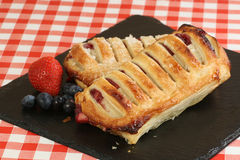 Mixed fruit strudel Royalty Free Stock Images