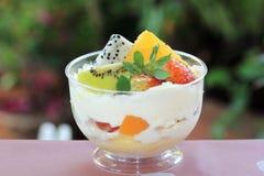 Mixed fruit tart royalty free stock photo