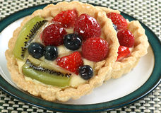 Mixed fruit tarts Stock Photo