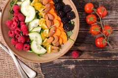 Mixed fruit and vegetable Royalty Free Stock Image