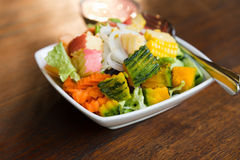 Mixed fruit and vegetable salad Stock Image