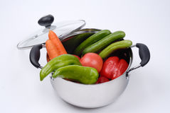 Mixed Fruit and Vegetables Stock Image