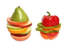 Mixed Fruit and Veggies Stock Photography