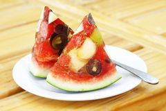 Mixed fruit watermelon Stock Photo