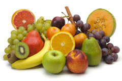 Mixed fruits Stock Images