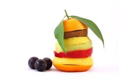Mixed fruits. Isolated on white background Stock Photo