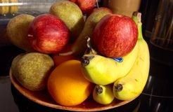 Mixed Fruits. Apple, banana, orange and more delicious fruits Royalty Free Stock Photography