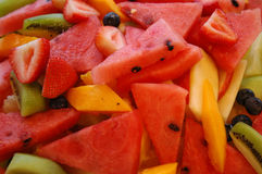 Mixed Fruits Background. Mixed fruits served in a hotel Stock Images