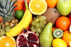 Mixed Fruits Background Royalty Free Stock Photo