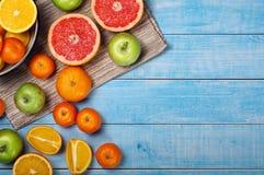 Mixed fruits background stock photo
