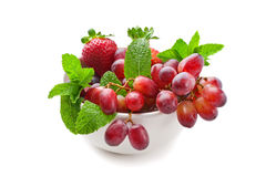 Mixed fruits in a bowl Royalty Free Stock Images