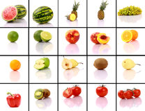 Mixed fruits collection Stock Images
