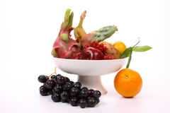 Mixed fruits on a dish Royalty Free Stock Photo