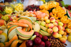 Mixed fruits and nuts Royalty Free Stock Photography