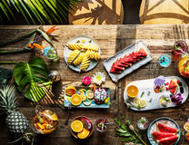 Mixed fruits on the table Royalty Free Stock Photography
