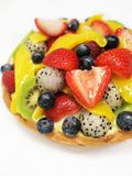 Mixed fruits tart Stock Photos