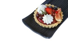 mixed fruits tart royalty free stock photography