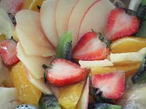 Mixed Fruits Topping On Homemade Fruits Tart Royalty Free Stock Images