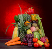 Mixed fruits vegetables. This is mixed fruits vegetables royalty free stock photos