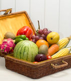 Mixed  fruits vegetables Stock Photography