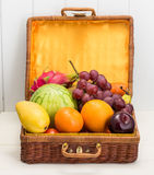 Mixed  fruits vegetables Royalty Free Stock Photos