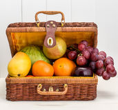 Mixed  fruits vegetables Royalty Free Stock Images