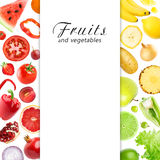 Mixed fruits and vegetables Royalty Free Stock Images