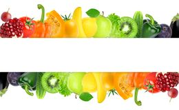 Mixed fruits and vegetables royalty free stock photography