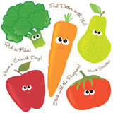 Mixed fruits & vegetables set 2 vector illustration