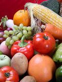 Mixed fruits vegetables. There are mixed fruits vegetables stock photos