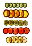 Mixed fruits on a white background Royalty Free Stock Photos