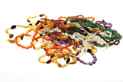 Mixed Gemstone Beads Necklaces. Mixed gemstone jewelry beads necklaces Royalty Free Stock Photos